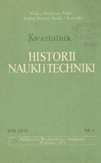 Kwartalnik Historii Nauki i Techniki R. 18 nr 2/1973