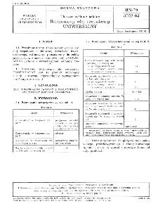 Tłuszcze roślinne jadalne - Rafinowany olej rzepakowy UNIWERSALNY BN-79/8052-04