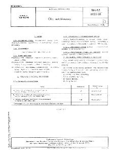Olej autoklawowy BN-63/6132-01