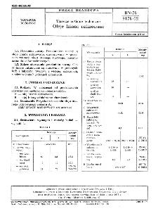 Tłuszcze roślinne techniczne - Rafinowany olej rzepakowy niskoerukowy BN-89/6133-05