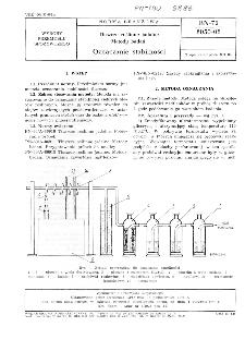 Tłuszcze roślinne jadalne - Metody badań - Oznaczanie stabilności BN-72/8050-08
