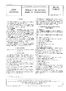 Tłuszcze roślinne jadalne -Naboje z dwutlenkiem węgla do wodosyfonów BN-81/8148-02