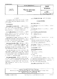 Wyroby tytoniowe - Klasyfikacja BN-81/8139-04