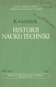 Kwartalnik Historii Nauki i Techniki R. 19 nr 3/1974