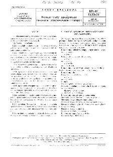 Koncentraty spożywcze - Pakowanie, przechowywanie i transport BN-87/8130-01