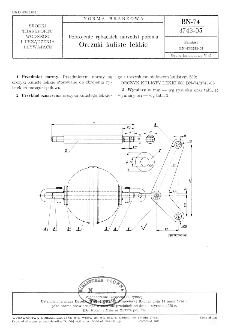 Uzbrojenie rybackich narzędzi połowu - Orczyki kuliste lekkie BN-74/3743-05
