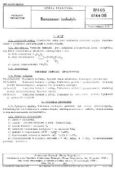 Benzoesan izobutylu BN-65/6144-08