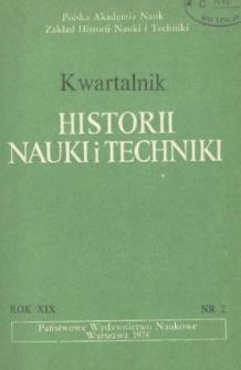 Kwartalnik Historii Nauki i Techniki R. 19 nr 2/1974