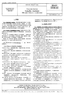 Drogi samochodowe - Łożyska mostowe - Obliczenia statyczne i projektowanie BN-69/8935-03