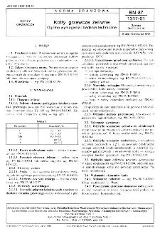 Kotły grzewcze żeliwne - Ogólne wymagania i badania techniczne BN-87/1317-01