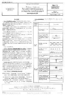 Wodociągi i kanalizacja - Rysunek inwentaryzacyjny przewodów kanalizacyjnych zewnętrznych BN-72/8971-05