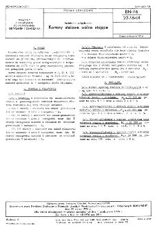 Instalacje odpylające - Kominy stalowe wolno stojące BN-76/2378-01
