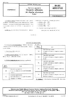 Centralne ogrzewanie - Grzejniki odlewane ze stopów aluminium - Podział BN-80/4815-07.00
