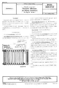 Centralne ogrzewanie - Grzejniki odlewane ze stopów aluminium - Wymagania i badania BN-80/4815-07.01