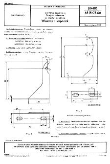 Centralne ogrzewanie - Grzejniki odlewane ze stopów aluminium - Wieszak i wspornik BN-80/4815-07.06