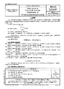 Środki pomocnicze dla przemysłu gumowego - Opóźniacz A (N-nitrozodwufenyloamina) BN-63/6064-01
