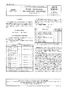 Środki pomocnicze dla przemysłu gumowego - Przyspieszacz F BN-79/6064-02