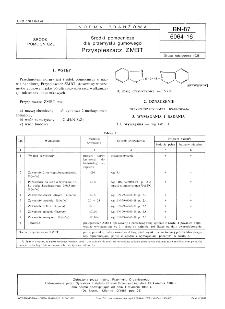 Środki pomocnicze dla przemysłu gumowego - Przyspieszacz ZMBT BN-87/6064-16
