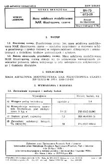 Masa asfaltowa modyfikowana MAK fiksotropowa, czarna BN-75/6112-09