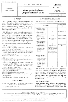 "Masa poliwinylowa ""Hydronalium"" żółta BN-72/6112-11"