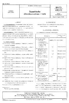 Szpachlówka chlorokauczukowa - biała BN-73/6112-15