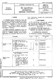 Kit szpachlowy epoksydowy ogólnego stosowania BN-74/6112-16