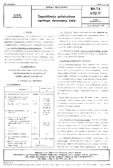 Szpachlówka poliwinylowa ogólnego stosowania, biała BN-74/6112-17
