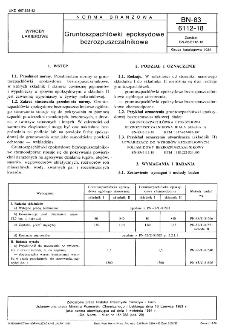 Gruntoszpachlówki epoksydowe bezrozpuszczalnikowe BN-83/6112-18