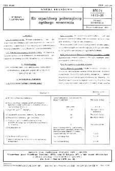 Kit szpachlowy poliwinylowy ogólnego stosowania BN-74/6112-20