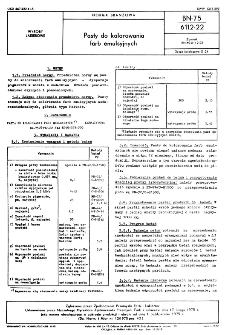 Pasty do kolorowania farb emulsyjnych BN-75/6112-22