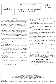Kity szpachlowe epoksydowe bezrozpuszczalnikowe BN-70/6112-24