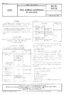 Masa asfaltowa modyfikowana do zbiorników BN-78/6112-26