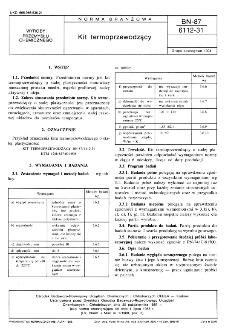 Kit termoprzewodzący BN-87/6112-31