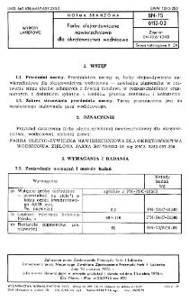 Farby olejowo-źywiczne nawierzchniowe dla okrętownictwa wodnicowe BN-75/6113-03