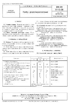 Farby przeciwporostowe BN-90/6113-08