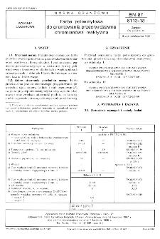 Farba poliwinylowa do gruntowania przeciwrdzewna chromianowa reaktywna BN-87/6113-18