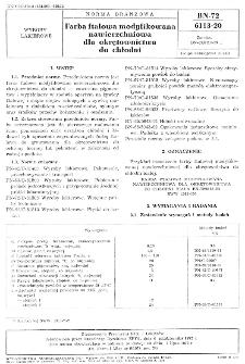 Farba ftalowa modyfikowana nawierzchniowa dla okretownictwa do chłodni BN-72/6113-20