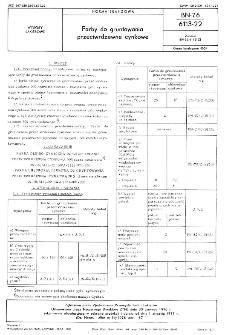 Farby do gruntowania przeciwrdzewne cynkowe BN-76/6113-22