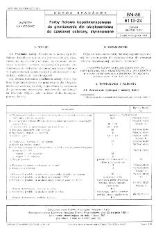 Farby ftalowe kopolimeryzowane do gruntowania dla okrętownictwa do czasowej ochrony, styrenowane BN-86/6113-24