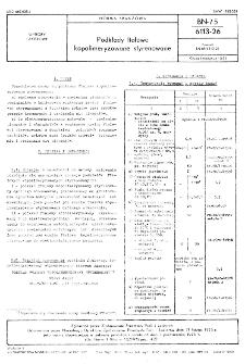 Podkłady ftalowe kopolimeryzowane styrenowane BN-75/6113-26
