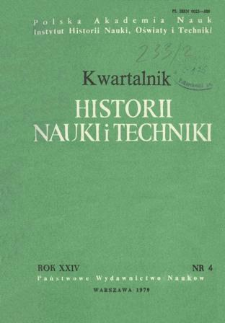 Kwartalnik Historii Nauki i Techniki R. 24 nr 4/1979