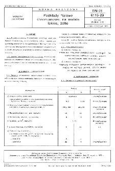 Podkłady ftalowe chromianowe, na metale lekkie, żółte BN-75/6113-29