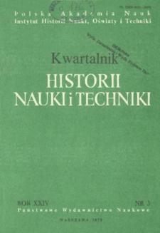 Kwartalnik Historii Nauki i Techniki R. 24 nr 3/1979