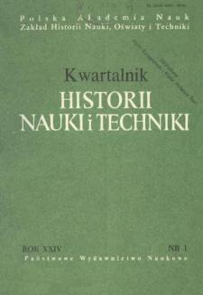 Kwartalnik Historii Nauki i Techniki R. 24 nr 1/1979