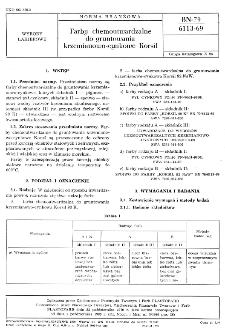 Farba chemoutwardzalne do gruntowania krzemianowo-cynkowe Korsil BN-79/6113-69