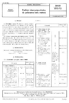 Podkład chemoutwardzalny do polewania biały matowy BN-81/6113-72