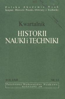 Kwartalnik Historii Nauki i Techniki R. 23 nr 3-4/1978