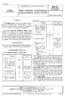 Masa asfaltowa modyfikowana przeciwrdzewna czarna OLIBIT BN-87/6113-84