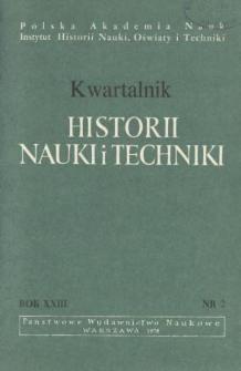 Kwartalnik Historii Nauki i Techniki R. 23 nr 2/1978