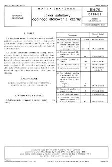 Lakier asfaltowy ogólnego stosowania, czarny BN-75/6114-01